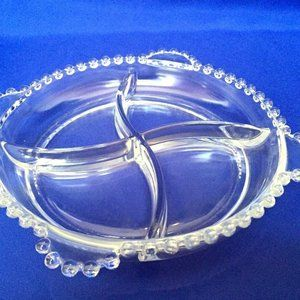 Imperial Glass Candlewick Relish Divided Dish